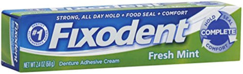 Fixodent Fresh Mint Cream Size 2.4z Fixodent Fresh Mint Cream 2.4z