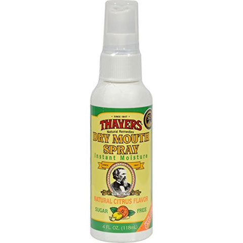 Thayers Sugar Free Dry Mouth Spray, Citrus, 4 Fluid Ounce (Pack Of 6)