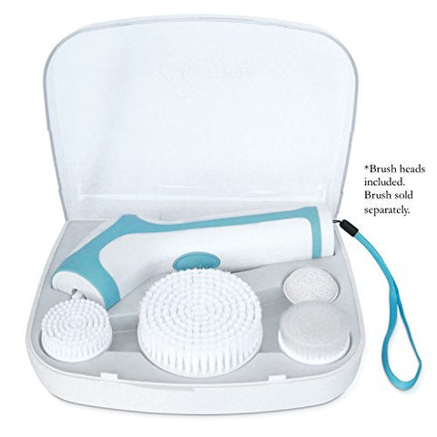 Travel Case For The Skin Cleansing System Facial Brush & Body Care Kit. Includes 4 Replacement Heads
