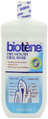 Biotene Dry Mouth Mouthwash 33.80 oz (Pack of 2)
