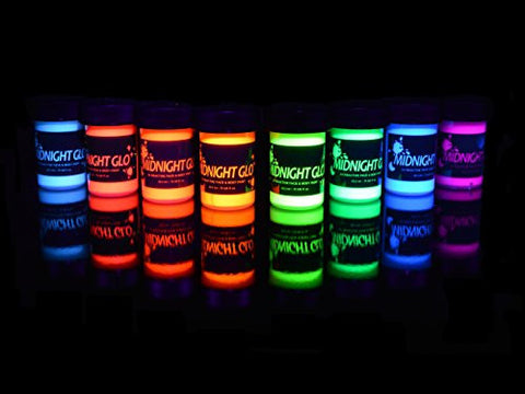 Midnight Glo Uv Body Paint (8x 0.75oz) Black Light Paint Black Light Makeup Bodypainting Neon Body P