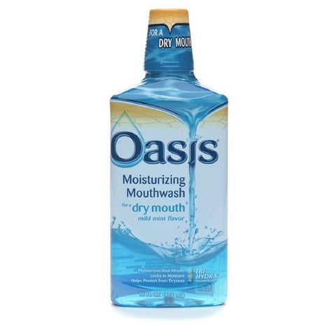 Oasis Moisturizing Mouthwash Mild Mint 16 Oz (Pack Of 4)