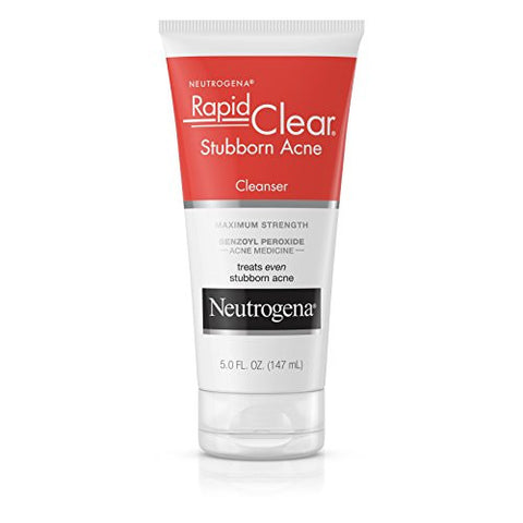 Neutrogena Rapid Clear Stubborn Acne Cleanser, 5 Oz