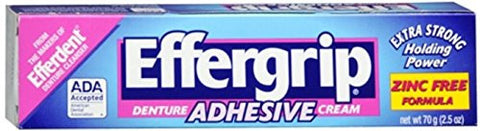 Effergrip Denture Adhesive Cream 2.50 Oz (Pack Of 4)