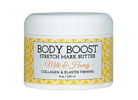 Body Boost Milk & Honey Stretch Mark Butter 8 Oz. Treat Stretch Marks And Scars  Pregnancy And Nursi