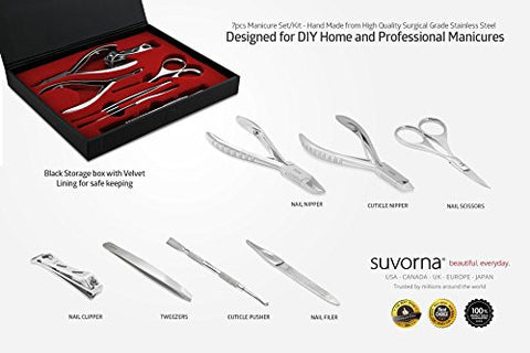 Suvorna Ador Professional Manicure/Pedicure Kit (7 Pieces)