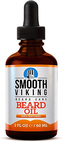 Smooth Viking Beard Oil For Men Use With Balm & Conditioner For The Best Facial Hair Grooming Kit, 2