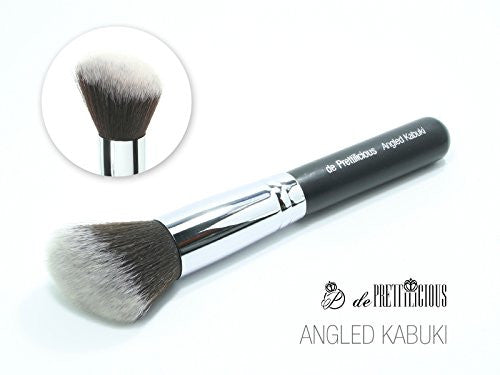 Premium Angled Kabuki Brush. On Sale Now! Free Beauty E Book. It Helps To Add Definition And Glow To