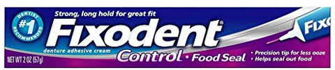Fixodent Plus Denture Adhesive Cream 2 Oz (Pack Of 5)
