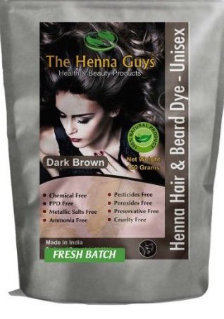 3 Packs Of Dark Brown Henna Hair And Beard Color/Dye   150 Grams   Chemicals Free Hair Color   The H