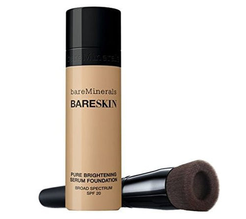 Bare Minerals Bareskin Kit Perfecting Face Brush And Pure Brightening Serum Foundation (Bare Natural)