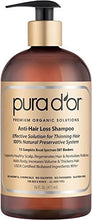 Pura Dor Anti Hair Loss Premium Organic Argan Oil Shampoo (Gold Label), 16 Fluid Ounce