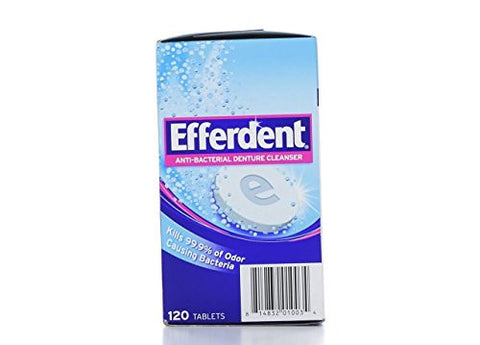 Efferdent Denture Cleanser, 120 Count Tablets (Pack Of 3)