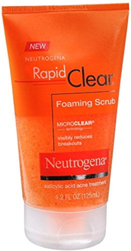 Neutrogena Rapid Clear Foaming Scrub 4.20 Oz (Pack Of 2)