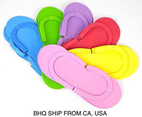 0fe62a14a62e DISPOSABLE FOAM PEDICURE SLIPPERS 12 PAIRS ASSORTED COLOR ...
