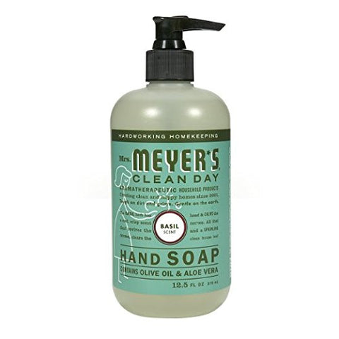 Liquid Hand Soap 12.50 Ounces, Basil 2 Pack