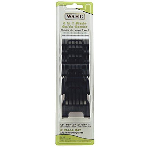 Wahl Professional Animal 5 In 1 Clipper Attachment Guide Comb Grooming Set For Wahl's Arco, Bravura,