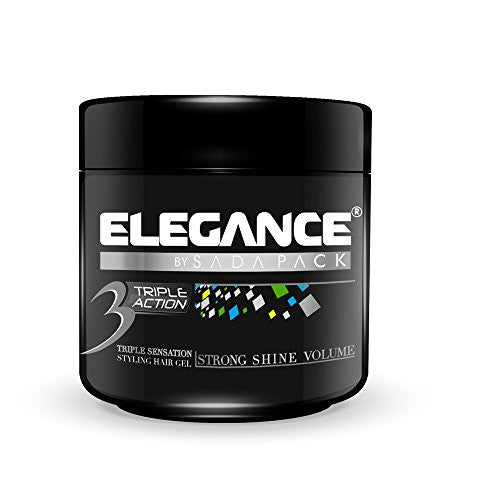 Elegance Triple Action Hair Gel, Silver, 500ml/17.6 Oz
