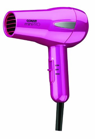 Conair Mini Hair Dryer; Perfect For On The Go Styling