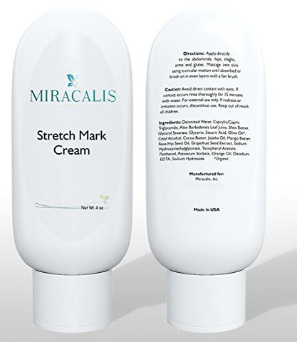 Miracalis   Stretch Mark Cream   Scar/Blemish Removal & Prevention. Firms, Sculpts & Tones Slackened