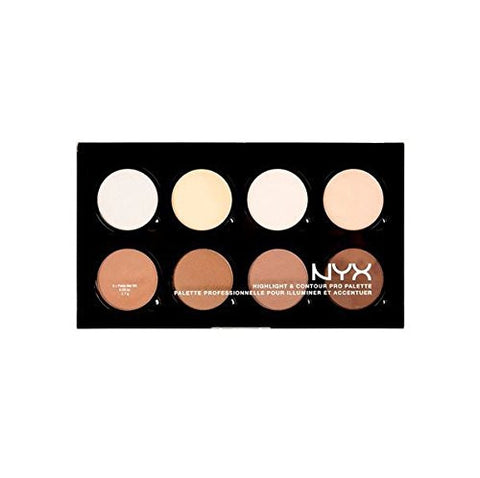 Nyx Hcpp01 Highlight & Contour Pro Palette 8 Colors X 0.09 Oz Full Size Bcs Inpf