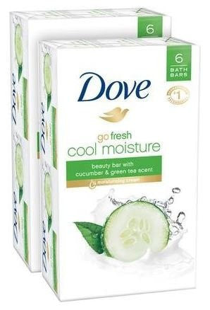 Dove Go Fresh Beauty Bar   Cool Moisture Cucumber And Green Tea   4 Oz   6 Ct   2 Pk