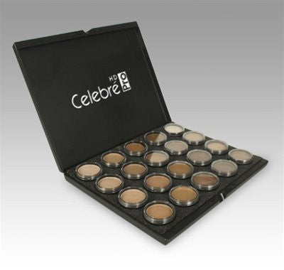 Mehron Makeup Celebre Pro Hd Cream Face & Body Makeup, 20 Color Foundation Palette
