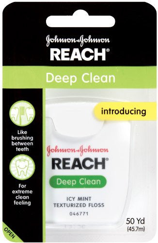 Reach Deep Clean Floss, Icy Mint, 50 Yard (Pack Of 3)