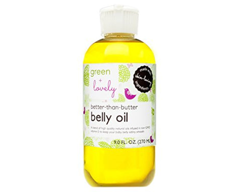 Better Than Butter Belly Oil(Tangerine) | Pregnancy Stretch Mark Prevention | 9 Fl Oz. Lasts For Up