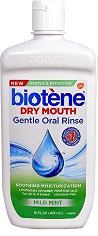 Biotene Moisturizing Oral Rinse, Mild Mint 16 Ounce (Packaging May Vary)