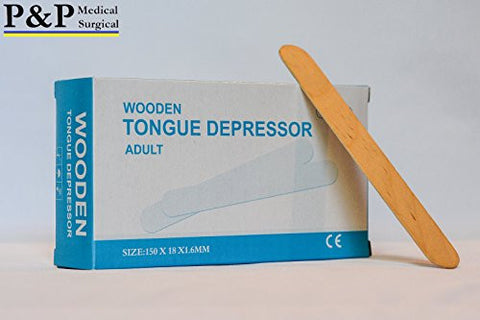 Tongue Depressors Non Sterile Non Splinter Chemical Free Wooden 6 Inch High Grade Natural Birch Box