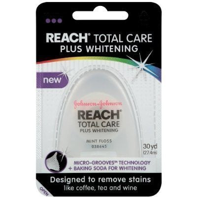Reach Total Care Dental Floss Plus Whitening (4 Pack)