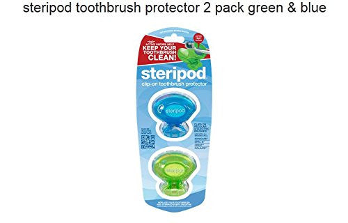 Steripod Clip On Toothbrush Sanitizer, 2 Pack