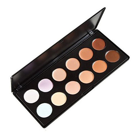 Easy Lifestyles Cosmetic 12 Colors Professional Concealer Camouflage Foundation Makeup Palette Conto
