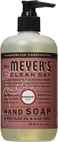 Mrs. Meyer's Clean Day Liquid Hand Soap, 12.5 Ounces, Rosemary, 2 Pack