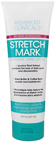 Advanced Clinicals Stretch Mark Lotion. Moisturizing Cream for Scars, Extreme Weight Loss, Pregnancy