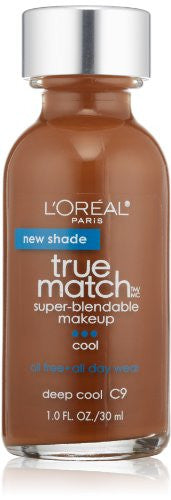 L Oreal Paris True Match Super Blendable Makeup, Deep Cool C9, 1.0 Ounces