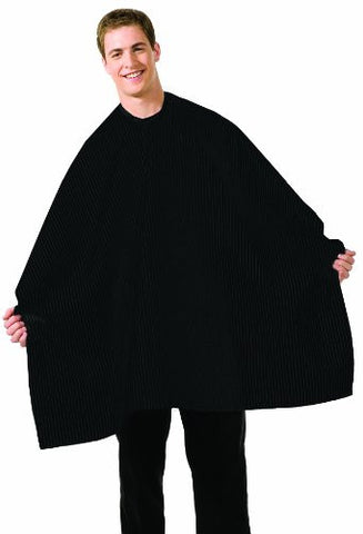 Betty Dain Seersucker Barber Cutting Cape, Solid Black