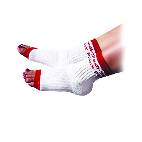 Original Pedi Sox Brand Toeless Socks For Pedicures : Classics: Red Trim