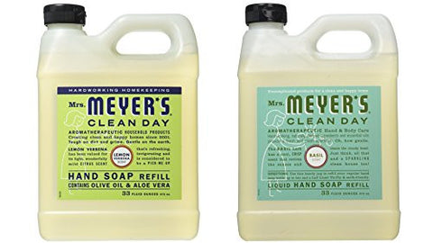 Mrs. Meyers Liquid Hand Soap Refill, 33 Fl Oz (Variety Pack)