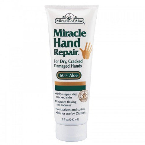 Miracle Hand Repair Cream 8 Ounce Tube With 60% Ultra Aloe