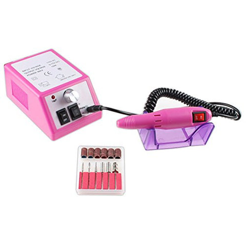 Image Electric Nail Salon Kits Professional Manicure Pedicure Nail Drill Machine   Pink