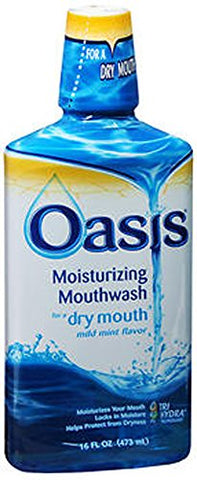 Oasis Moisturizing Mouthwash For Dry Mouth Mild Mint, Mild Mint   16 Oz (Pack Of 4) By Emerson