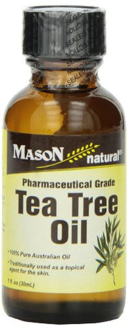 Mason Natural, Tea Tree Oil, 1 Ounce, 100% Pure Australian Oil Pharmaceutical Grade, With Natural An