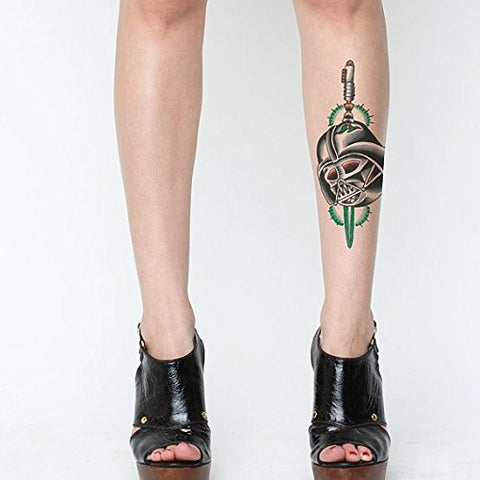 Tattify Darth Vader Temporary Tattoo   Sith Sense (Set Of 2)   Other Styles Available   Fashionable
