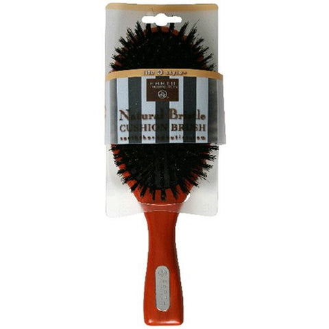 Earth Therapeutics Life + Style Natural Bristle Cushion Brush, 1 Brush (Pack Of 2)