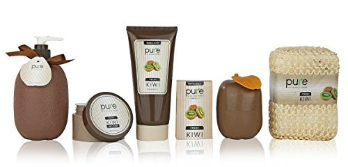 Pure! Spa In A Basket  Natural Spa Kit Best Gift Set For Women (Kiwi)