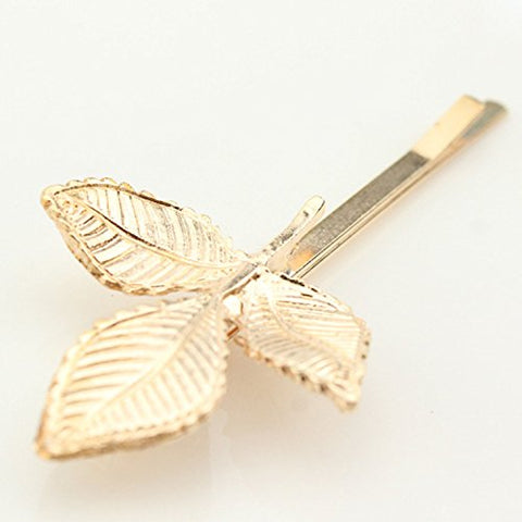 4ce515dcd60a ... Aukmla Chic Leaf Style Hair Pins for Women and Girls (Golden)