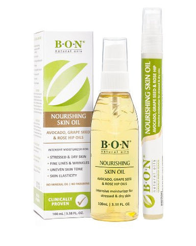 B.O.N Natural Skin Care Toning, Hydrating, Anti Aging, Scar And Stretch Mark Oil. Non Greasy, Light
