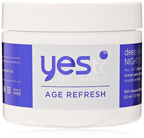 Yes To Blueberries Age Refresh Deep Wrinkle Night Cream, 1.7 Ounce